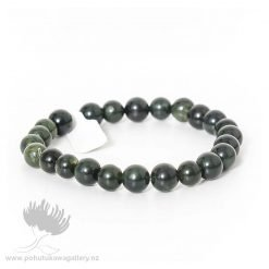 Greenstone Beaded Bracelet
