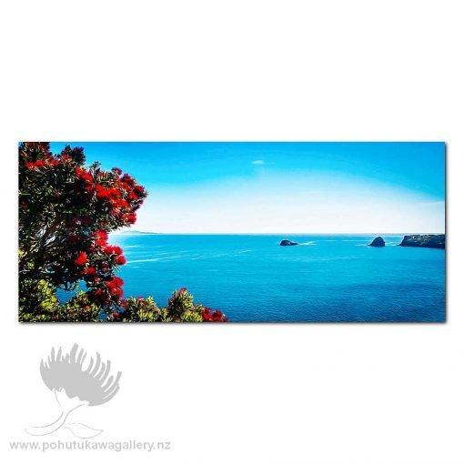 Kirk O'Donoghue Print - Pohutukawa Bay, Mount, Mt Maunganui, NZ Beach Art, New Zealand,