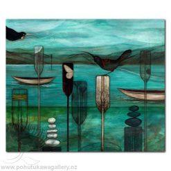 Calling Me Back by Kathryn Furniss - Art Prints New Zealand Huia NZ