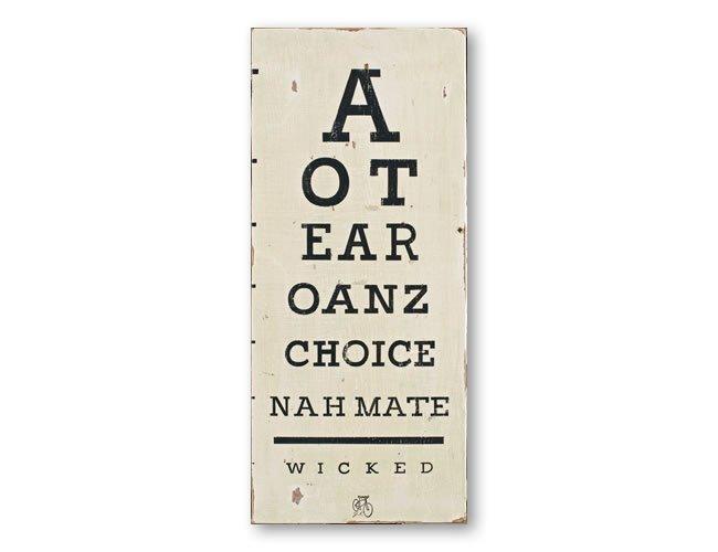 Aotearoa eye chart NZ