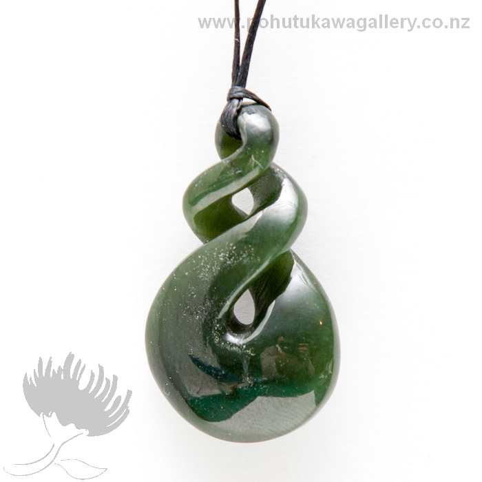 Nz greenstone pendant medium double twist pohutukawa gallery nz greenstone pendant medium double twist mozeypictures Gallery
