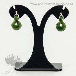 New Zealand Made Greenstone Pounamu Earrings NZ