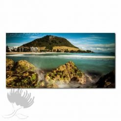 Kirk O'Donoghue Canvas Print - View From Leisure Island, Mount Maunganui, NZ, New Zealand, Mt