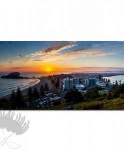 Kirk O'Donoghue Print - View From Mount, Mt Maunganui, NZ Beach Photo Art, New Zealand,