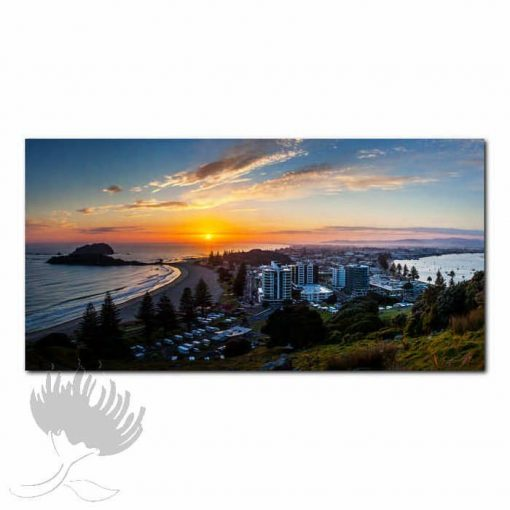 Kirk O'Donoghue Print - View From Mount, Mt Maunganui, NZ Beach Photo Art, New Zealand,