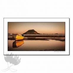 Kirk O'Donoghue Shadow Board Print - Early Morning Mount, Mt Maunganui, NZ Beach Photo Art, New Zealand
