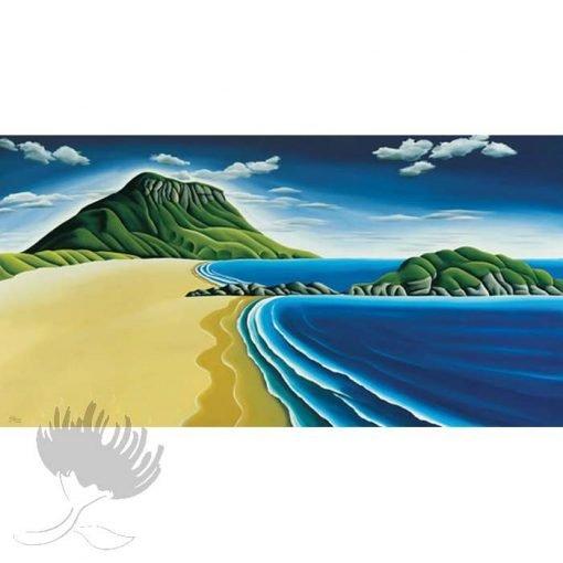 Diana Adams - Mount Maunganui   Box Frame Print