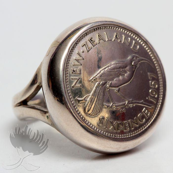 robertson design coin ring sixpence pohutukawa gallery