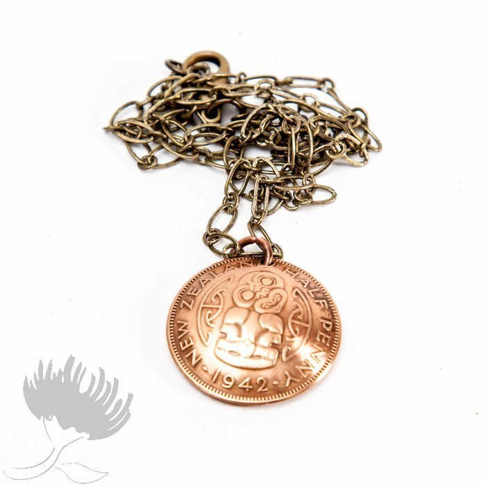 Andrew Peach half penny coin pendant NZ