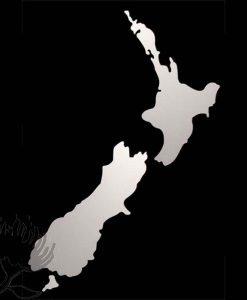 Mirror Map New Zealand NZ