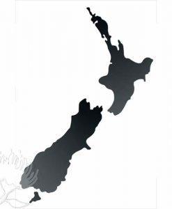 Black Map New Zealand NZ