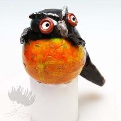 morepork handmade garden ceramic NZ Birds
