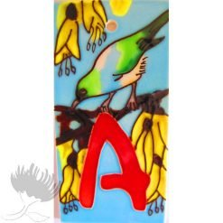 Letterbox tiles numbers and letters ceramic NZ Birds