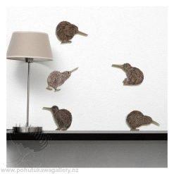 Printed ACM Birds Set Kiwi New Zealand NZ