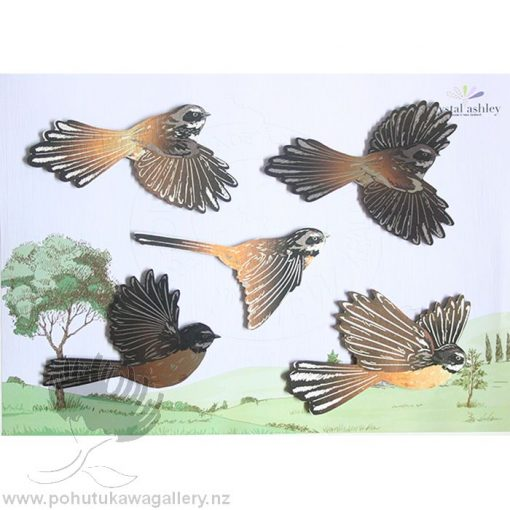 printed nz flying fantails