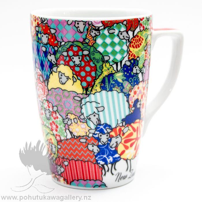 new zealand sheep coffee cup