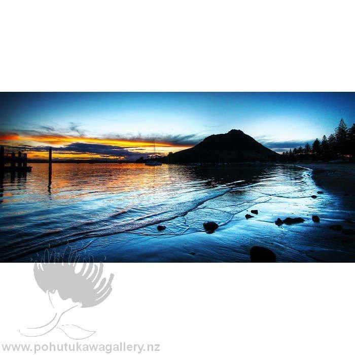 Kirk O'Donoghue Large Canvas Print - Pilot Bay Mount Maunganui Mt NZ New Zealand