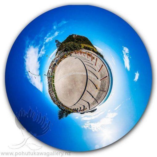 Kirk O'Donoghue Circle Print - Main Beach Mount Maunganui Mt NZ New Zealand