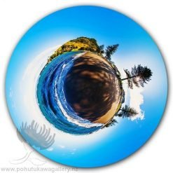 Kirk O'Donoghue Circle Print - Pilot Bay - Mt Mount Maunganui NZ New Zealand 360