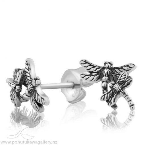 2E61000 Dragonfly Studs (New Beginnings) Earrings Evolve New Zealand
