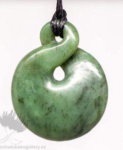 New Zealand Greenstone Pendant Twist