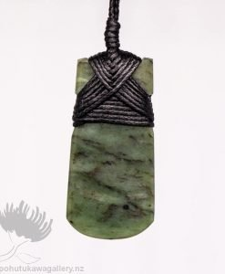 New Zealand Greenstone Pendant Toki Adze