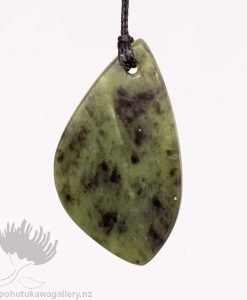 New Zealand Greenstone Pendant Freefrom Drop