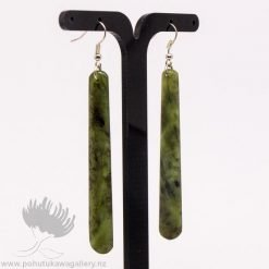 New Zealand Greenstone Traditional Drop Earrings