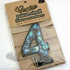 New Zealand Paua Shell House Number