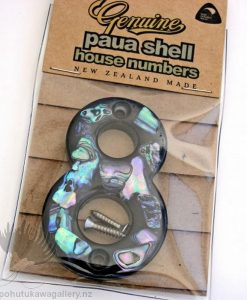 New Zealand Paua Shell House Number