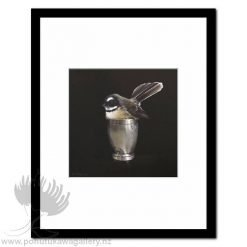 Cute In A Cup by Jane Crisp - Art Prints New Zealand Fantail