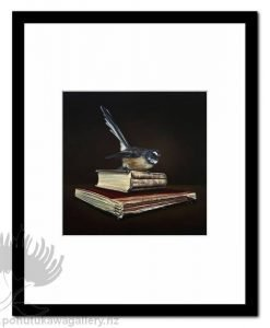 Memoirs Of Yesterday Fantail by Jane Crisp - Art Prints New Zealand