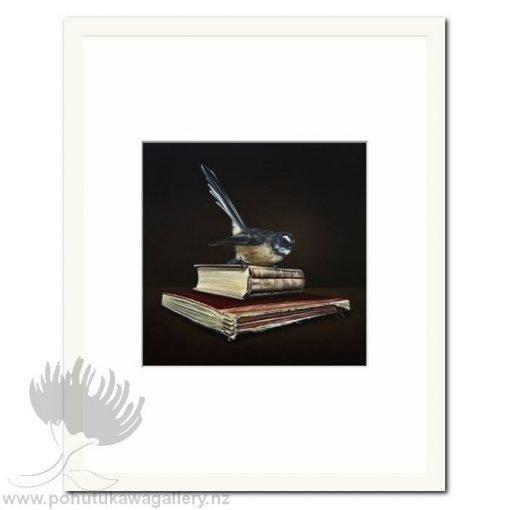 Memoirs Of Yesterday Fantail by Jane Crisp - Art Prints New Zealand