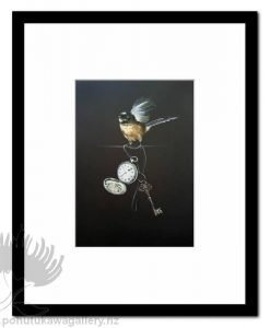 Time For Change Fantail by Jane Crisp - Art Prints New Zealand