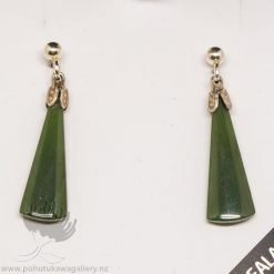 New Zealand Made Greenstone Earrings