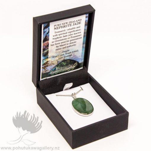 New Zealand Made Greenstone Pendant