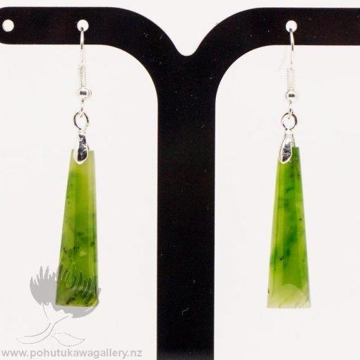 New Zealand Greenstone Earrings