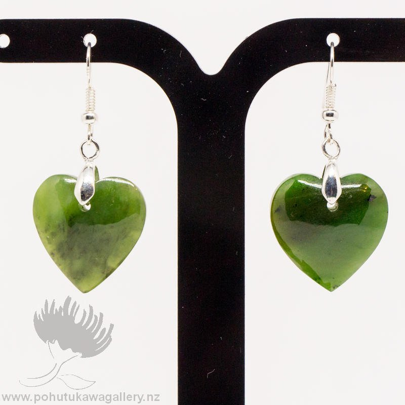 New Zealand Greenstone Earrings