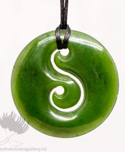 New Zealand Greenstone Pendant Koru