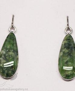 New Zealand Made Greenstone Earrings