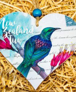 New Zealand Made Heart Tui