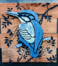 Outdoor Panel Art Kingfisher NZ