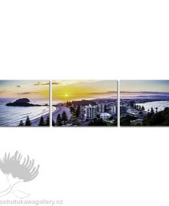 Pano Kirk O'Donoghue Canvas Print Triple - Mount Sunrise Mt Maunganui NZ New Zealand