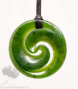 New Zealand Greenstone Double Koru Pendant