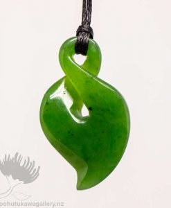 New Zealand Greenstone Twist Pendant