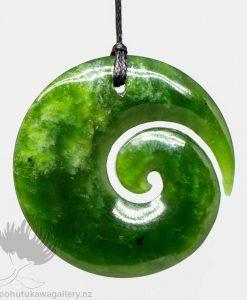 New Zealand Greenstone Koru Pendant