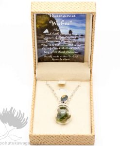 NZ Greenstone Wish Bottle Pendant