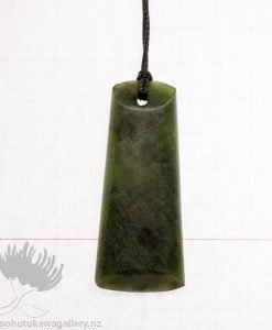 New Zealand Greenstone Pendant Adze