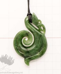 New Zealand Greenstone Pendant Manaia Koru