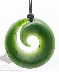 New Zealand Greenstone Koru Pendant